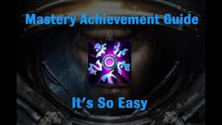 It's So Easy Mastery Achievement - Starcraft 2 Wings of Liberty