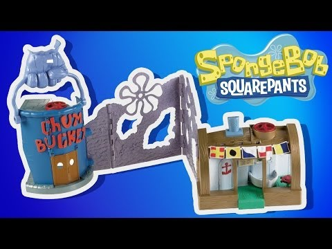 Spongebob Squarepants Krusty Krab Play-doh Playset Imaginext  Chum Bucket Gary, Patrick, Mr Crab video