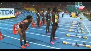 2013 IAAF World Championships women 100m dash FINAL