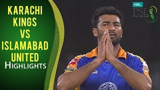 PSL 2017 Match 20: Karachi Kings vs Islamabad United Highlights