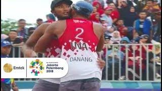 Momen Kemenangan Tim Voli Pantai Putra Indonesia | Asian Games 2018