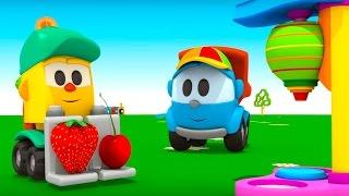 Грузовочик Лева Малым и Машина для мороженого. Мультик 3D.Мультфильмы для детей про машинки.