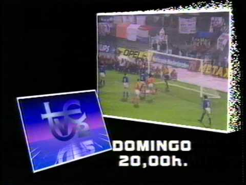 Cortinillas y logotipos de TV2 en 1988