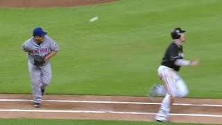 Colon makes a superb behind-the-back play