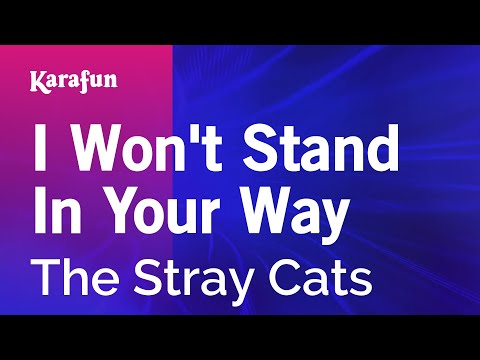 Karaoke I Won't Stand In Your Way - The Stray Cats