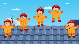 Five Little Fireman   Nursery Rhymes For Kids   Baby Rhyme For Children