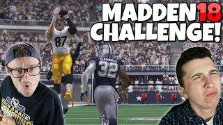MADDEN 18 HILARIOUS GIANT vs TINY PLAYERS DRAFT CHALLENGE ft. TDBarrett!!