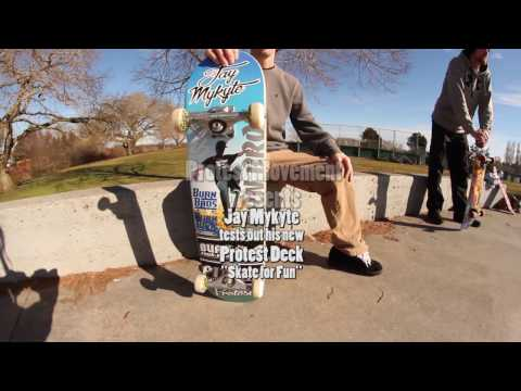 Jay Mykyte tests a New Protest Deck at Tsawwassen Skate Park - Skate For Fun