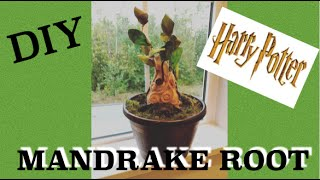How to make  Harry Potter Mandrake Baby - DIY Harry Potter Tutorial. Super fun Harry Potter craft