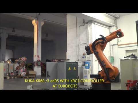 KUKA KR60 3 ED05 WITH KRC2 CONTROLLER AT EUROBOTS
