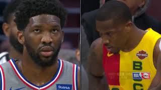 Eric Bledsoe Gets EJECTED After Throwing The Ball At Joel Embiid | Bucks vs 76ers  - April 4, 2019