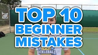 Top 10 beginner pickleball mistakes (updated for 2019!)