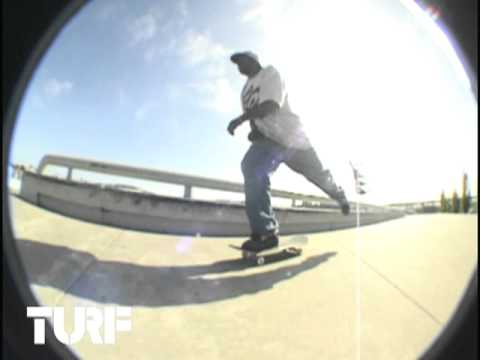 ON THE TURF w/ LARRY REDMON - FS TAILSLIDE HEELFLIP LINE