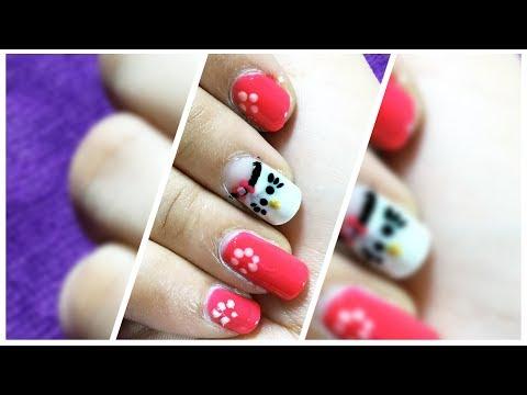 Nails decorated with Nail Art polish |  New Nail Art design trend 2018