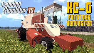 Farming Simulator 2015 KC 6 POTATOES HARVESTER