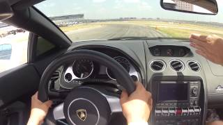 "My First Driving Experience with ""Lamborghini Gallardo"" on a Race Track !"