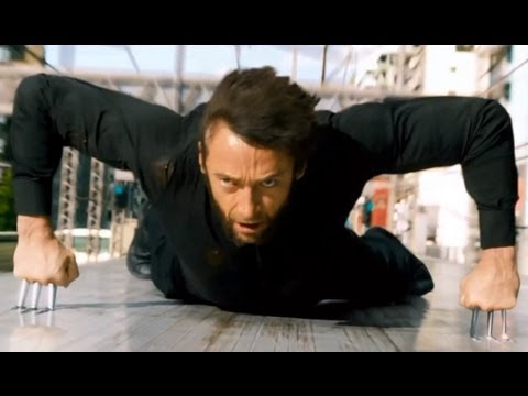 THE WOLVERINE - Train Fight Scene in HD - Hugh Jackman, James Mangold, Famke Janssen
