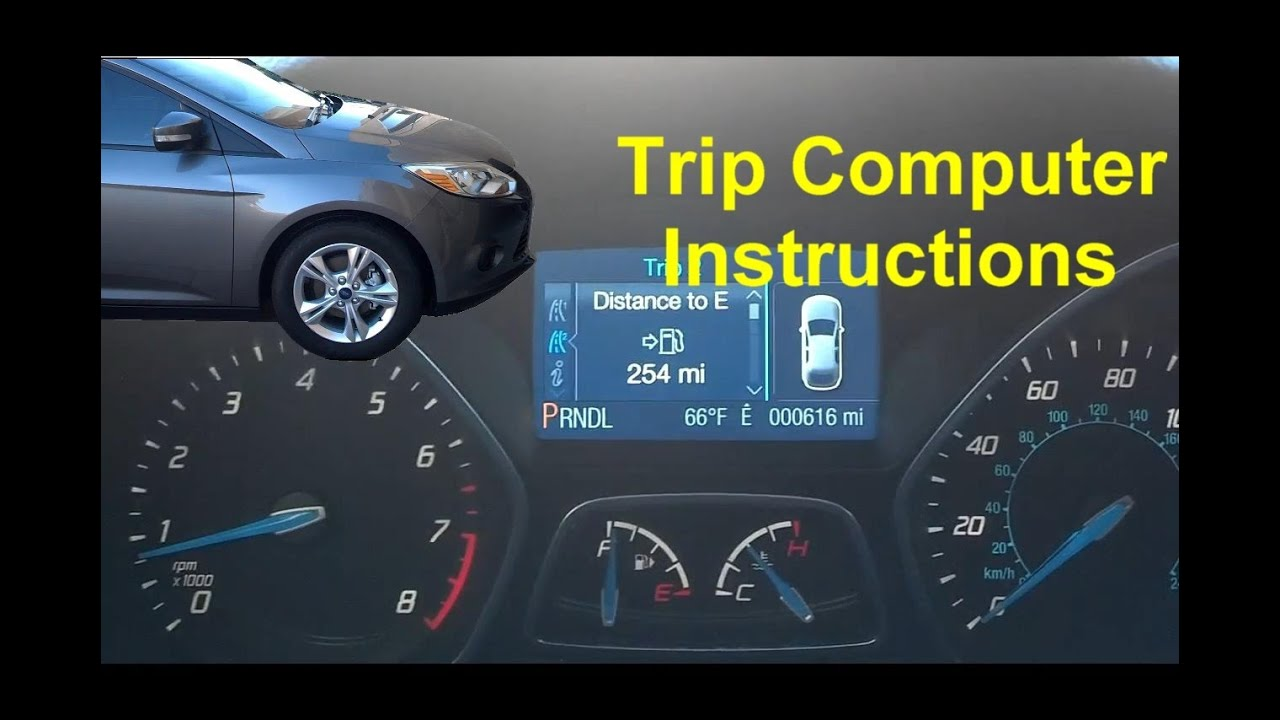 Ford Trip Computer Instructions Operation Function