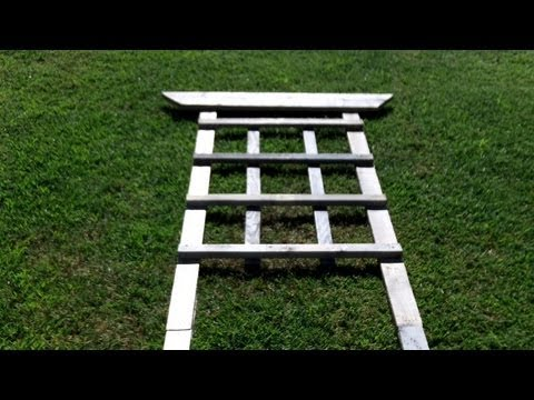 how to build a trellis for around youtube. Black Bedroom Furniture Sets. Home Design Ideas