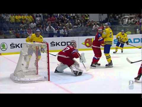 Россия-Швеция 5:3. ЧМ 2015 по хоккею. Голы. Опасные моменты. 14 мая. Четвертьфинал. Острава