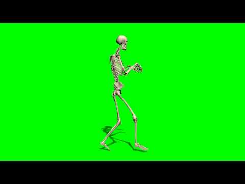 Skeleton sneaks quietly - greenscreen effects thumbnail