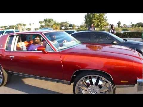 CANDY ORANGE CUTLASS & MASERATI SLIDING THRU GUCCI MANE CAR SHOW!