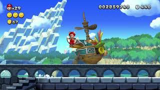 New Super Mario Bros U Deluxe Castle 1 100% In 1:26 (World Record)