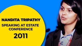 Nandita Tripathy speaking at Estate