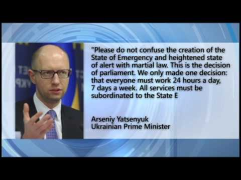 State of Emergency in Donbas: Ukrainian PM Yatsenyuk announces state of emergency