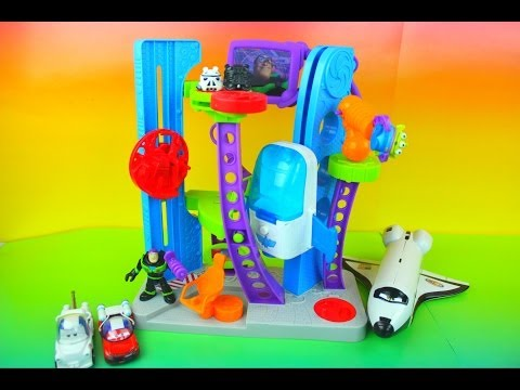 Toy Story Imaginext Star Command Buzz Lightyear sees Cars Mater & Lightning McQueen Darth Vader Pig