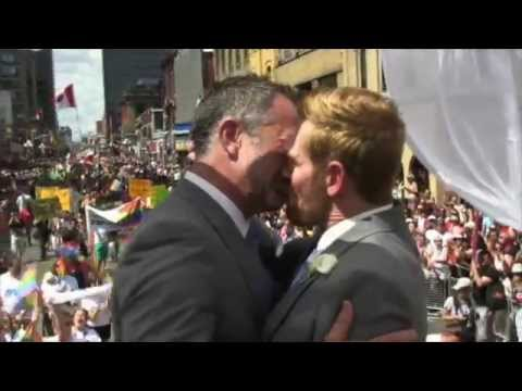 Carter & Breken Win Gay Wedding at Toronto Pride 2012