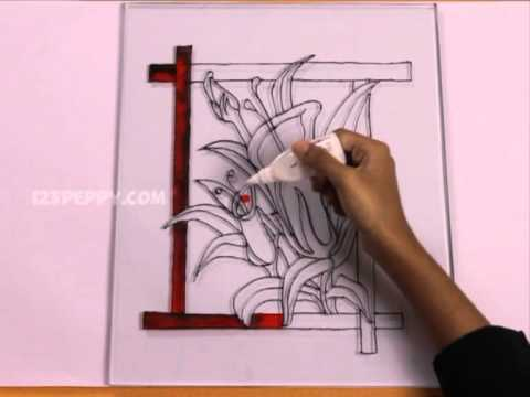 How to Make a Gorgeous Flowers Glass Painting