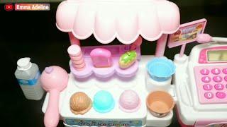 Emma Play Pretend Ice Cream Store Cash Register | Unboxing Ice Cream Toys | Mainan Es Krim Anak