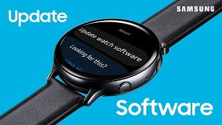 01. Update software on your Samsung smartwatch without a phone | Samsung US