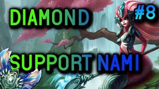 DIAMOND Support Nami S8 Full Gameplay #8 - League of Legends