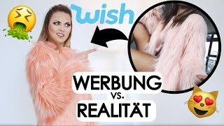 WISH FASHION TRY ON HAUL + Werbung vs Realität deutsch