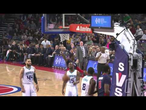 Reggie Jackson Alley Oops to Andre Drummond One Hand Tips In