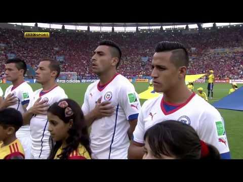 Himno Nacional Chile España Mundial Brasil 2014 - HD