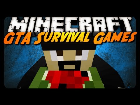 Minecraft: GTA5 Inspired Survival Games! w/ YouTubers! - Team Round #1