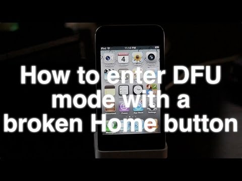 Jailbreak iPhone with broken Home button (DFU mode)
