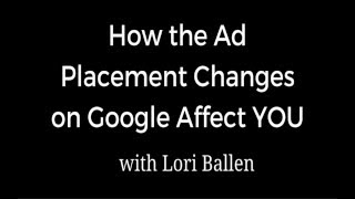 How Google AdWords Changes affect You - SEM & SEO