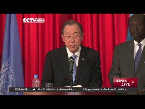 U.N. Chief  in S.Sudan to push for the implementation of peace deal