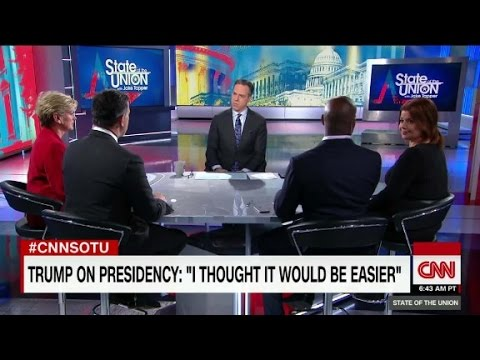 """Trump: thought presidency would be """"easier"""""""