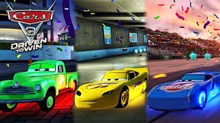 Cars 3: Driven to Win - Smokey Dinoco Jackson Storm vs Cars Race Lightning McQueen 2017