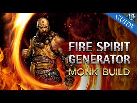 D3 RoS - Monk Fire Spirit Generator Build G60+ & T10 Patch 2.3