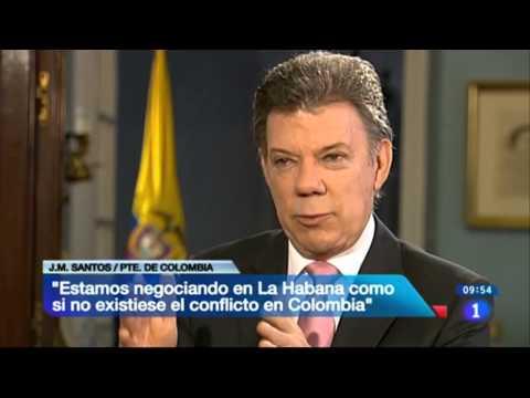Entrevista al Presidente Juan Manuel Santos en Televisión Española - 23 de enero de 2014