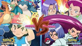 Pokemon Battle USUM: Ash Vs Team Rocket (Jessie and James)