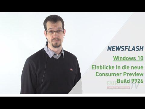 Windows 10 - Consumer Preview Build 9926 | FAIRRANK TV - Newsflash