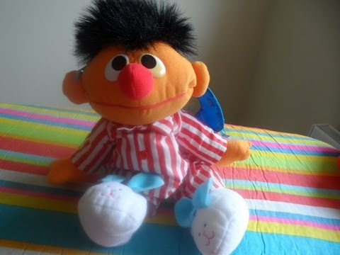 AMAZING TALKING ERNIE FROM SESAME STREET CHARACTER IN PYJAMAS SOFT TOY