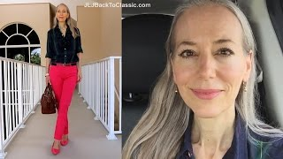 Vlog--Casual Fall Wear Talbots Try-Ons, Plus My 2 OOTDs / Classic Fashion, Style Over 40, 50
